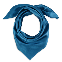 Foulard carré Eazy <br/>Bleu pétrole