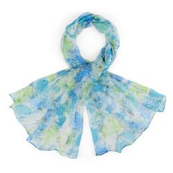 Foulard mousseline de soie <br/>Primavera Bleu
