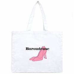 Tote Bag Samiya Blanc <br/>&quot;Baroudeuse&quot;