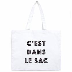 Tote Bag Samiya Blanc <br/>&quot;C&#039;est dans le Sac&quot;