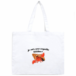 Tote Bag Samiya Blanc <br/>&quot;Coquille libre&quot;
