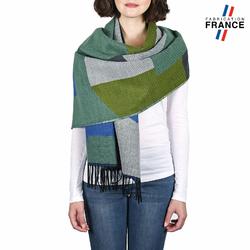 Châle patchwork WELA <br/>Vert