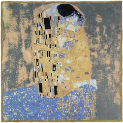 Carré de soie SilkArt <br/>Gustav Klimt <br/>Baiser Original