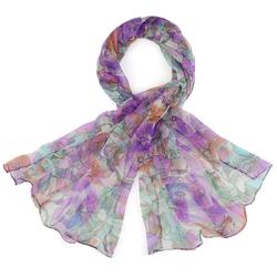 Foulard mousseline de soie <br/>Harmonia violet