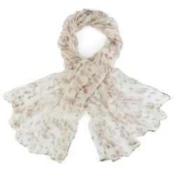 Foulard mousseline de soie <br/>Belina beige