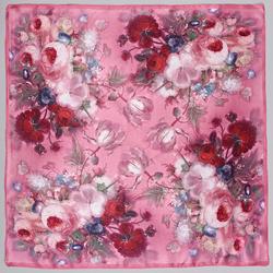 Carré de soie Piccolo BeaFlor Rose