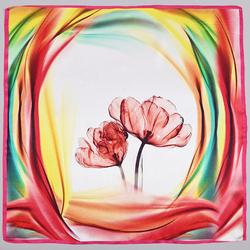 Carré de soie Piccolo Simple fleur