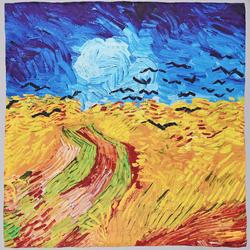 Carré de soie SilkArt <br>Van Gogh <br>Champs de blé aux corbeaux