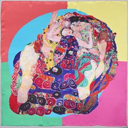 Carré de soie SilkArt<br/> Gustav Klimt<br/> Les Vierges