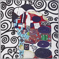 Carré de soie SilkArt <br>Gustav Klimt <br/>L&#039;Accomplissement