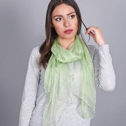 Foulard mousseline soie <br/>Vert amande uni