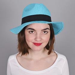 Chapeau Trilby Femme <br>TURQUOISE - Larges bords