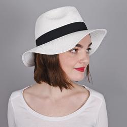Chapeau Trilby Femme <br/>BLANC - Larges bords