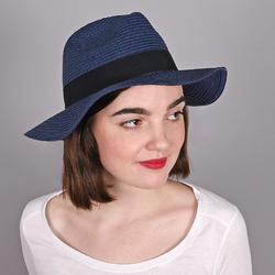 Chapeau Trilby Femme <br/>MARINE - Larges bords