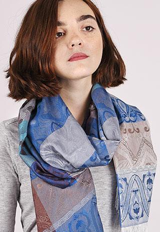 Echarpe légère motif patchwork