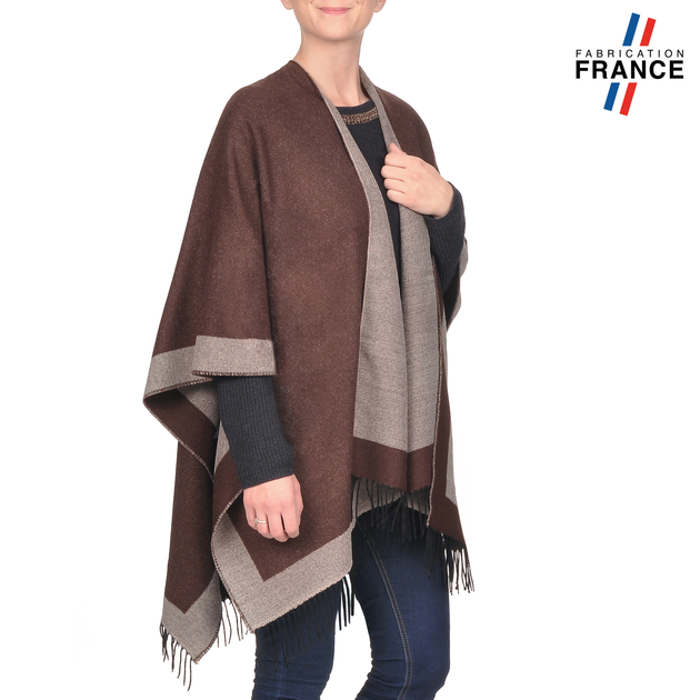 AT-03204-V16-poncho-a-franges-marron-gris-fabrication-france