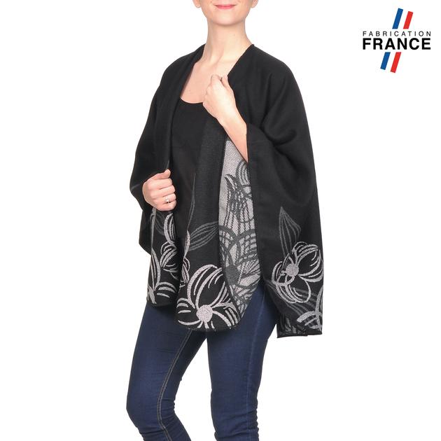 AT-03252-V16-poncho-femme-noir-fleurs-gris-fabrique-en-france