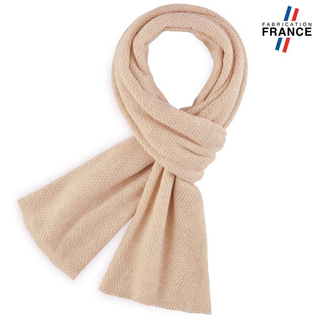 81565c80a0a Echarpe beige laine écharpe à tricoter