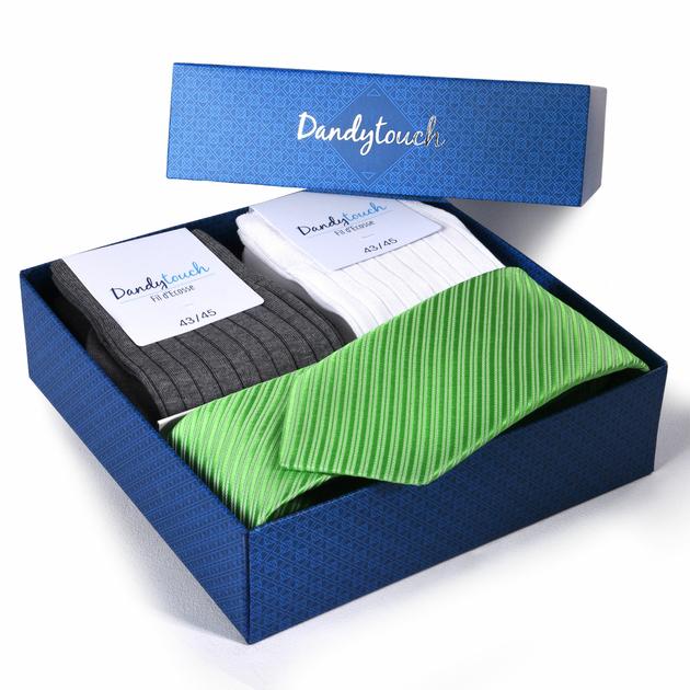 coffret cadeau homme chaussettes fil ecosse cravate pomme. Black Bedroom Furniture Sets. Home Design Ideas