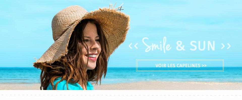 Smile & Sun ! Voir la collection Capeline été