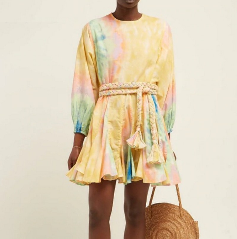 Robe Courte Tye and Dye Ceinturée ROG Différents Coloris