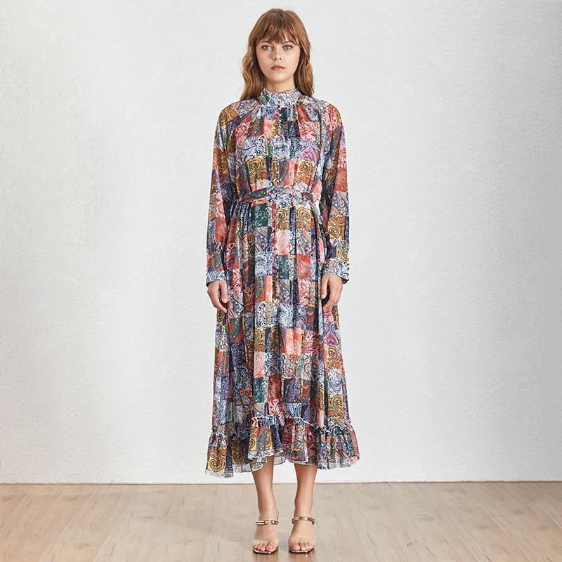 Robe Longue Imprimé Esprit Vintage EMMA