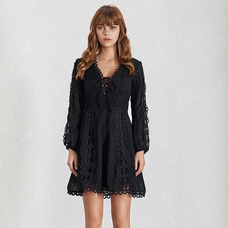 Robe Boho Crochet à Lacets ARTHY 2 Coloris