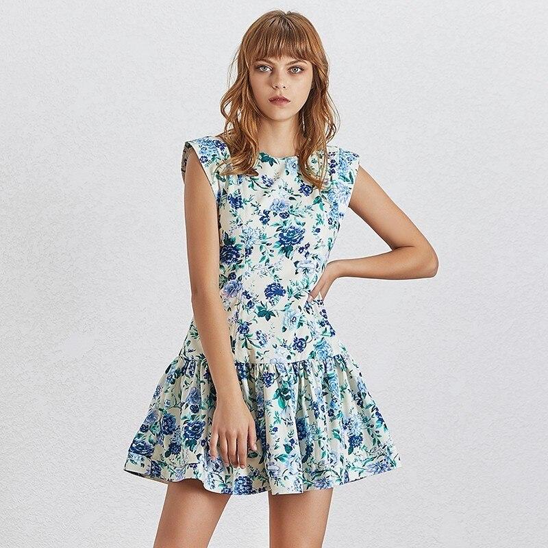 Mini Robe Fleurie Volantée GEDRA