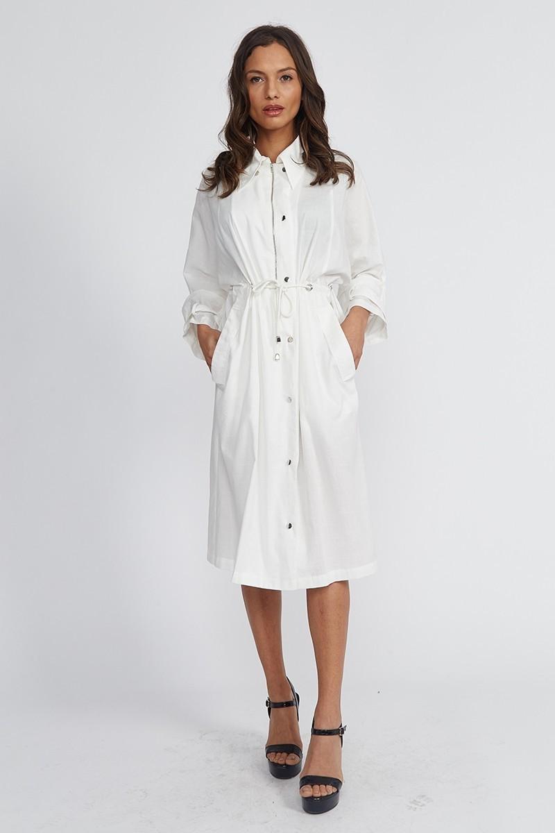 Robe Mi Longue Blanche Sporty Chic UTILITY