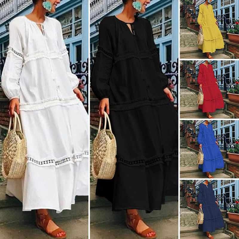 Robe Longue Boho Brodée JACK 6 Coloris