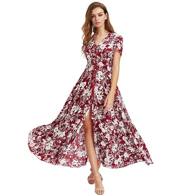 Robe Longue Boutonnée à Pompons Différents Modèles