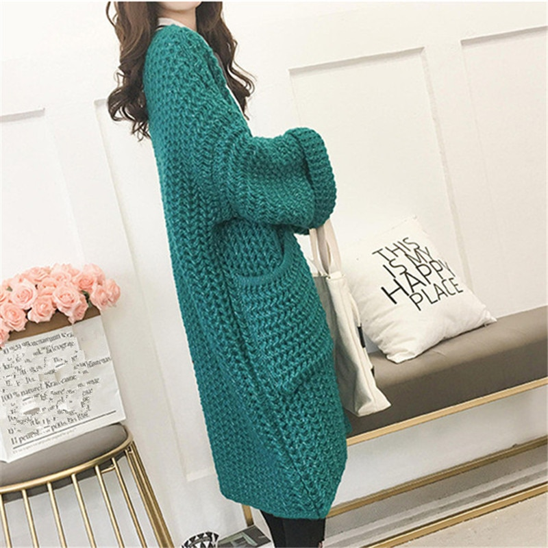 Long Cardigan Loose en Maille KOBEO 3 Coloris