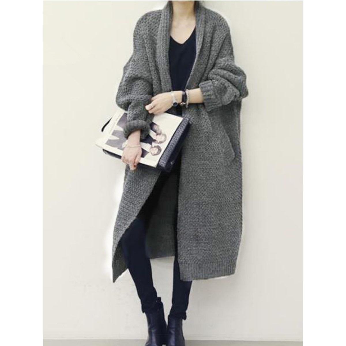 Long Cardigan Loose Oversized KORNY 3 Coloris