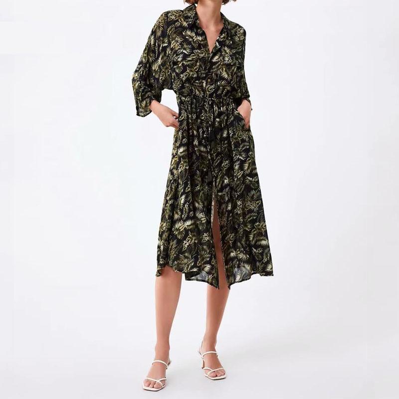Robe Longue Ajustée Tropicale ROCHE