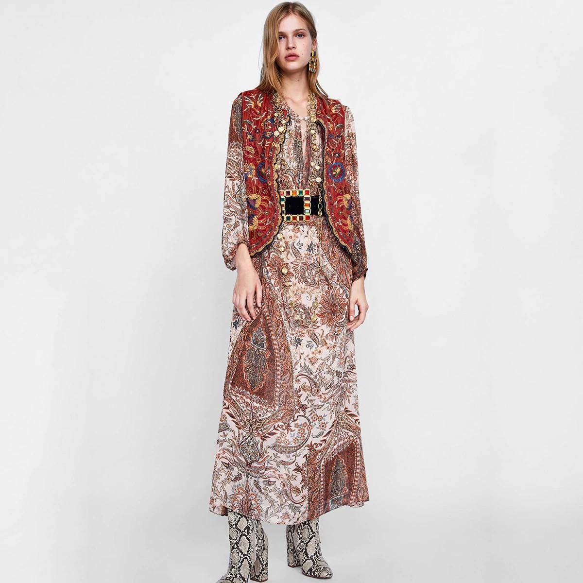 Robe Longue Imprimé Cachemire STRADA