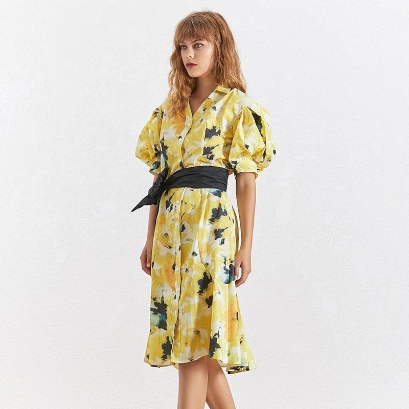 Deuxtwinstyle-t-l-gant-imprimer-robe-pour-les-femmes-revers-demi-bouff-e-manches-haute-Wasit