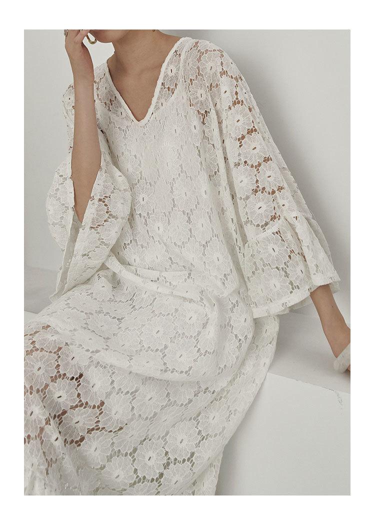 Robe Longue Blanche Gipsy à Crochet JINNY