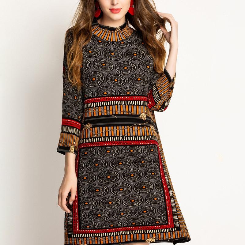 Robe à Imprimé Ethnique ARJA 3 Coloris