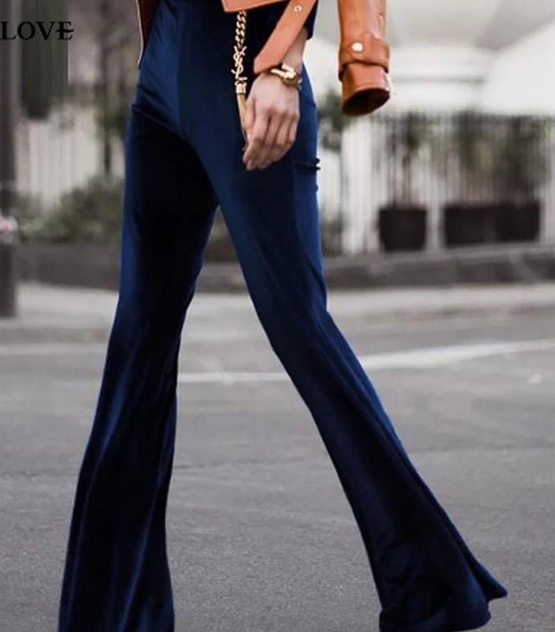 Pantalon Flare Velours Différents Coloris ANITA