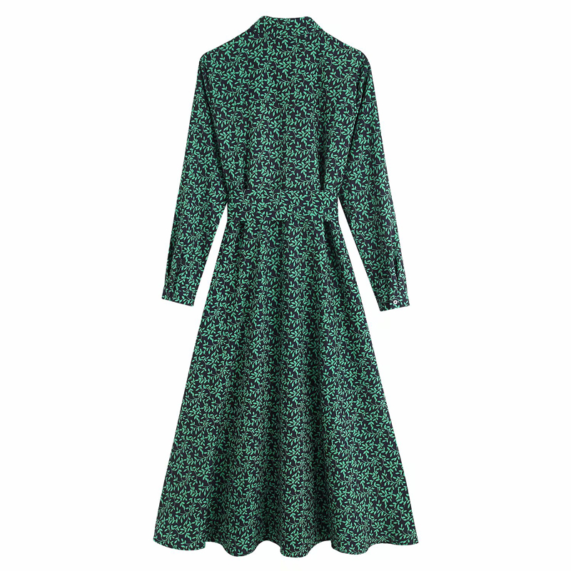 Robe Longue Verte Fleurie Ceinturee Sabrina Robes Robes Longues Maxi Showroomtendance