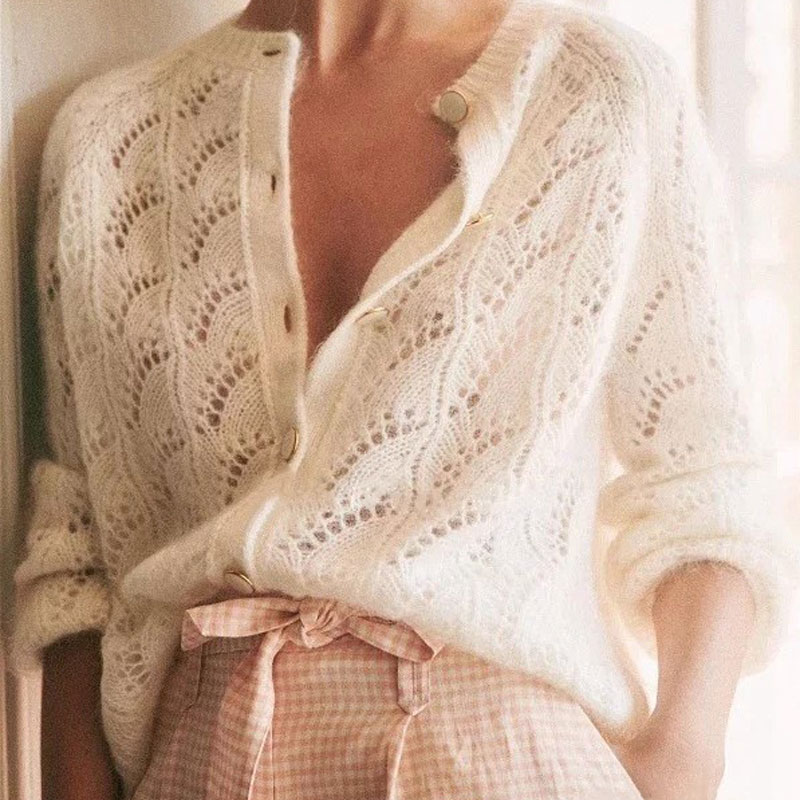 Cachemire-laine-pull-Cardigan-femmes-manches-longues-tricot-Mohair-pull-Cardigans-avec-boutons