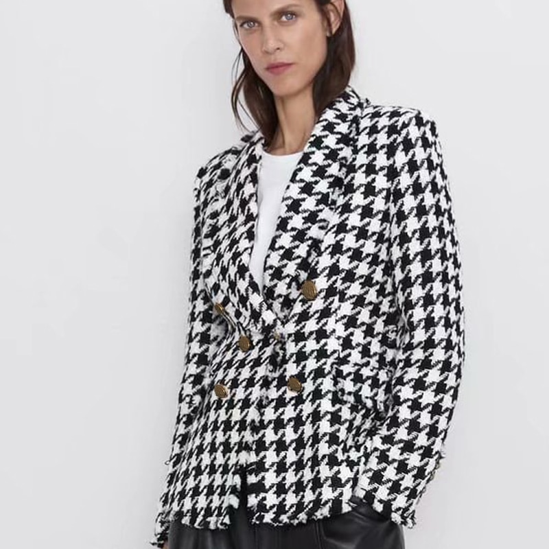 Blazer Tweed Pied de Poule MARTINGA
