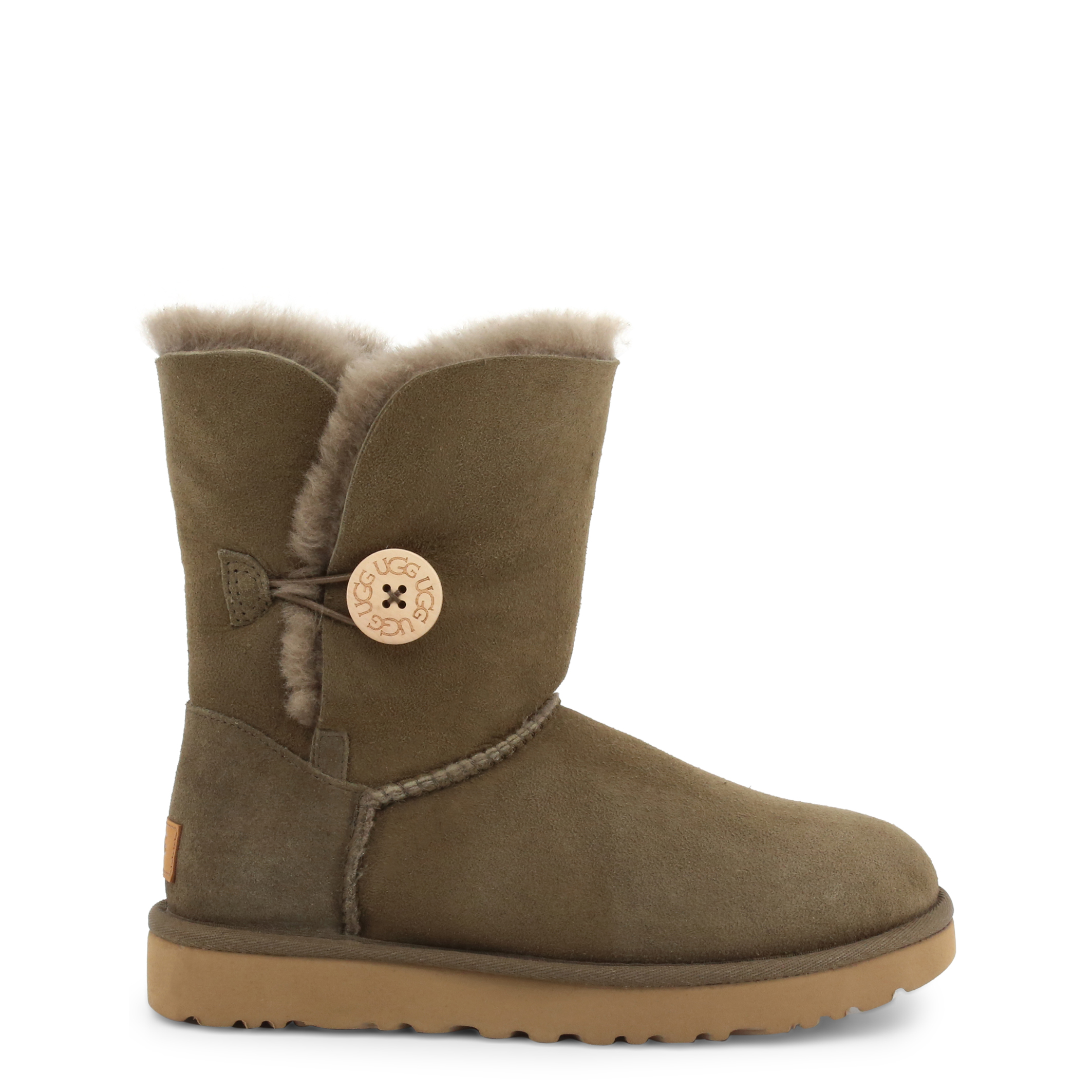 Bottines UGG BAILEY_BUTTON_II_1016226_EUCALYPTUS Marron