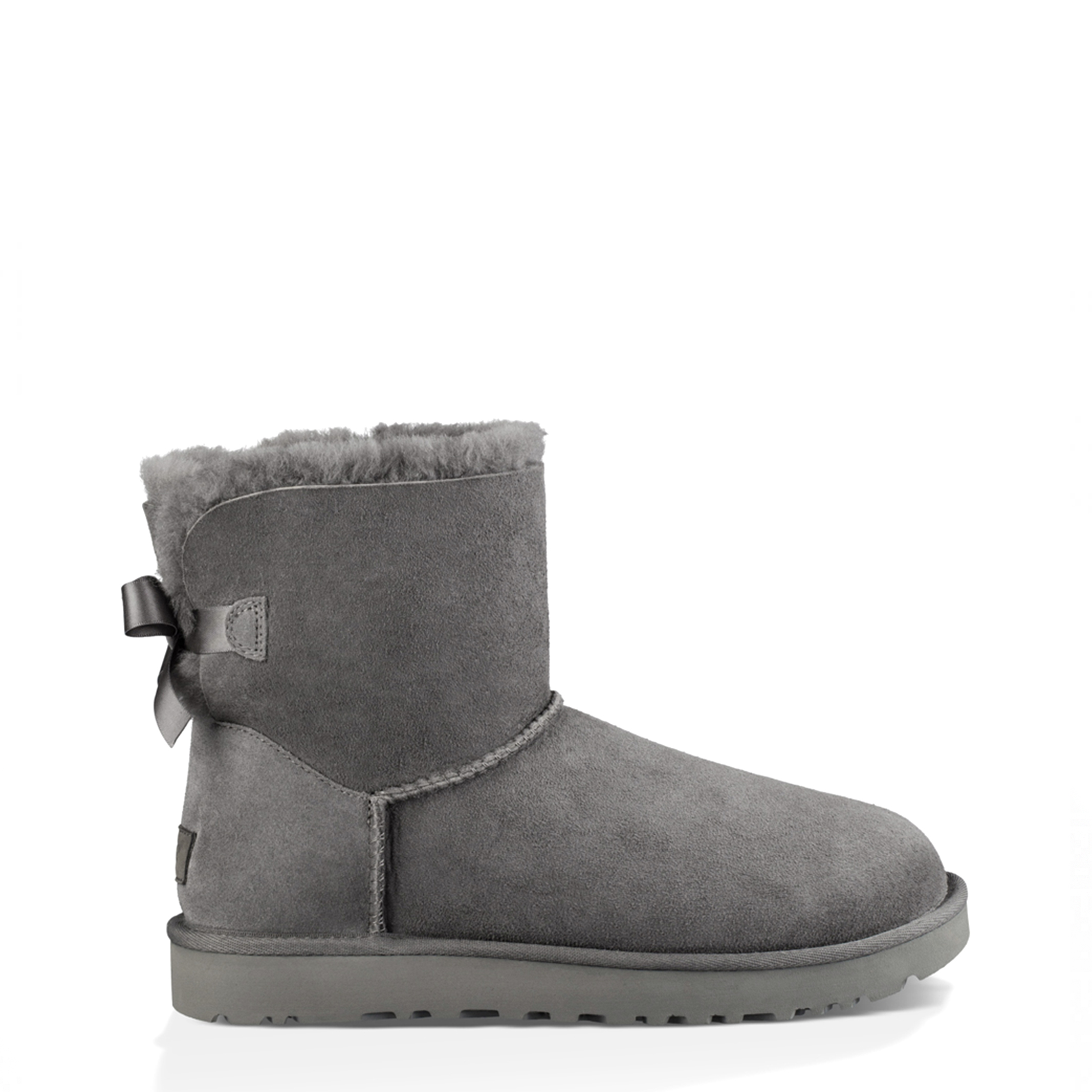 Bottines UGG à Noeuds Mini Gris