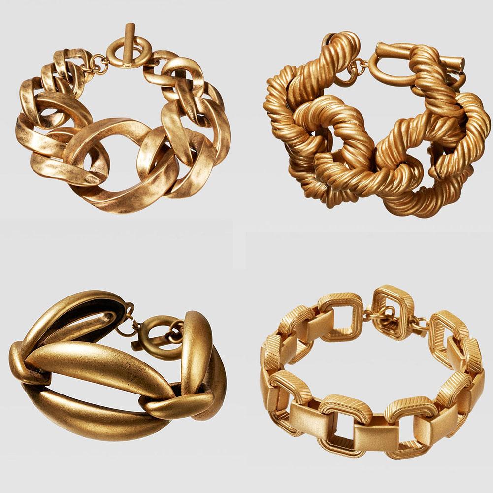 Bracelet Maillons Esprit Vintage Différents Modèles