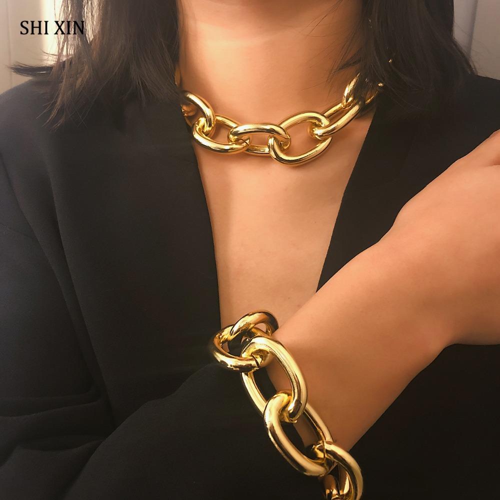 Coller et/ou Bracelet Chaine à Gros Maillons 2 Coloris