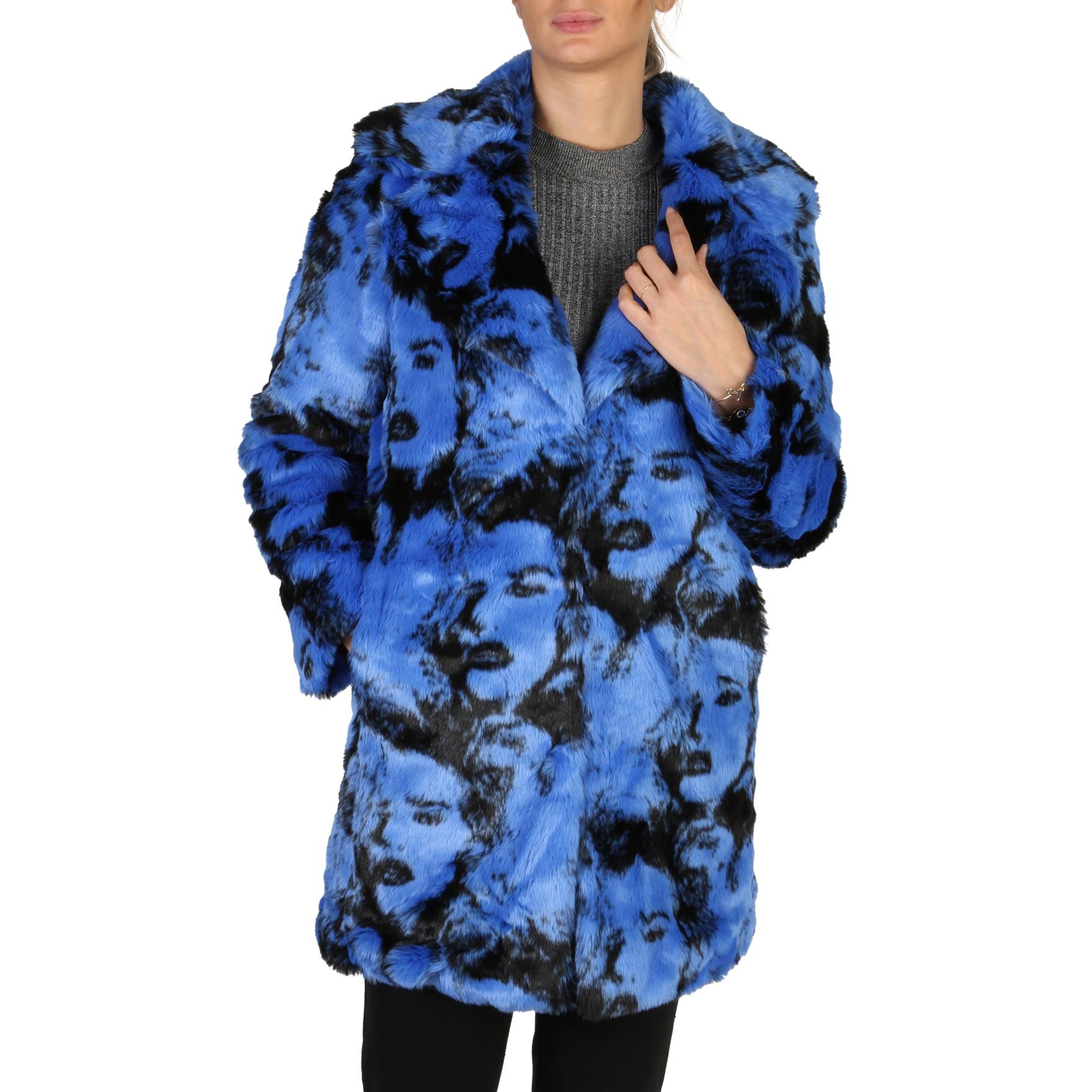 Manteau Fausse Fourrure Bleu FACE GUESS