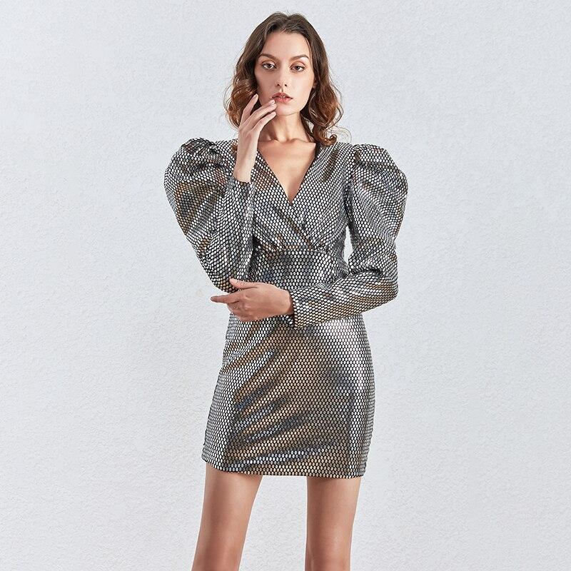 Robe Courte Crayon Glitter Silver PRUDO