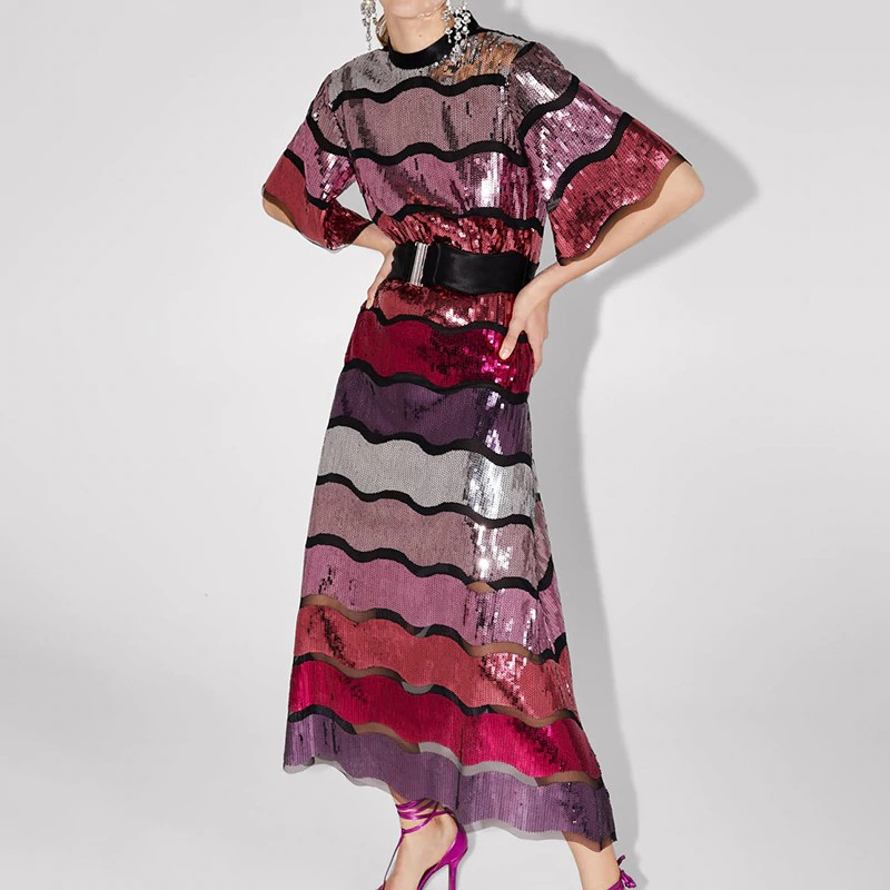 Robe Patchwork Sequins Esprit Seventies GALCA