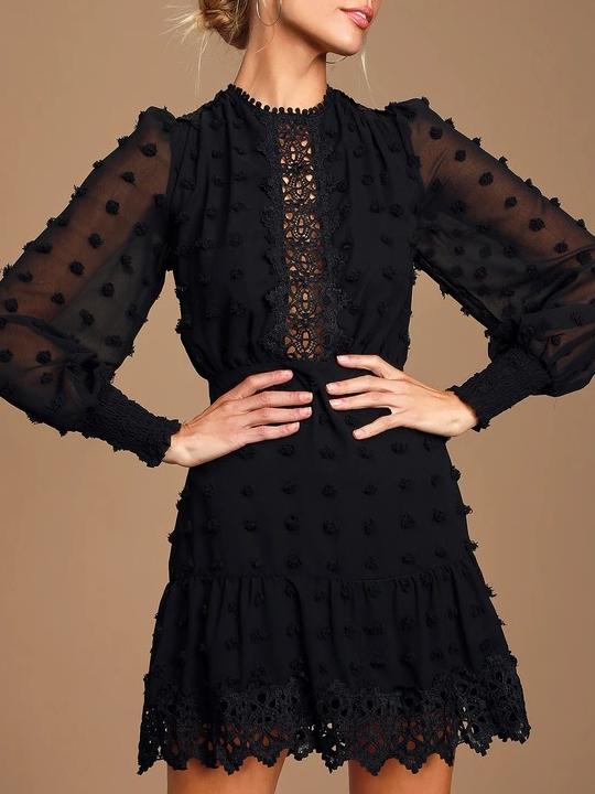 Robe Noire à Crochet WHOAW